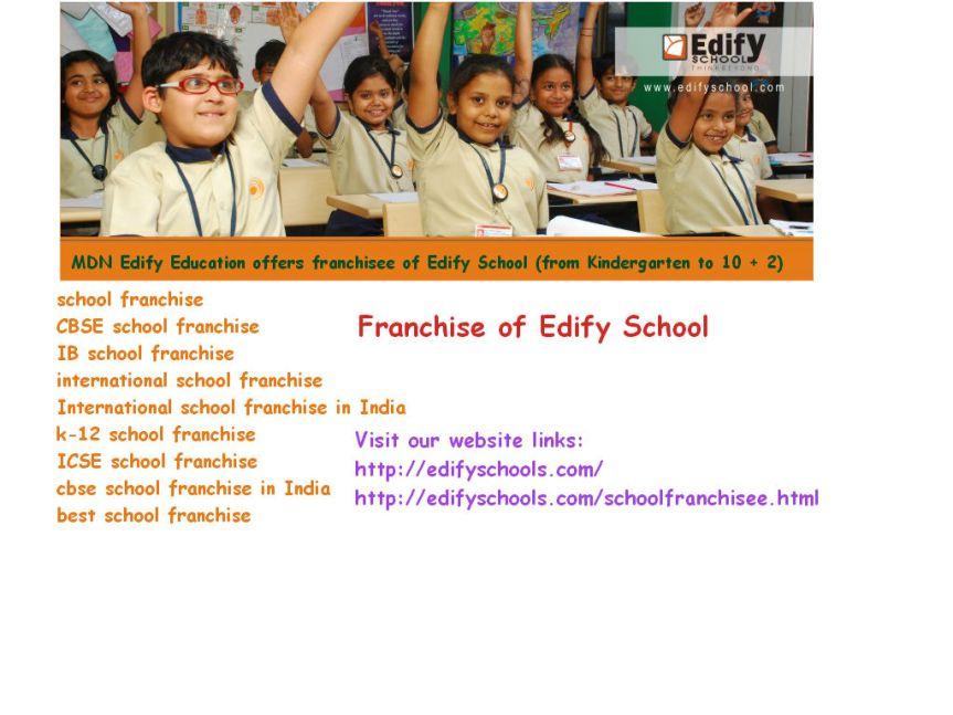 International School Franchise –EdifySchools