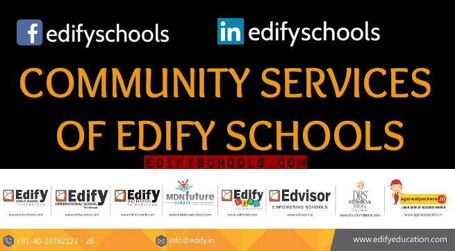 COMMUNITY SERVICES OF EDIFYSCHOOLS!!