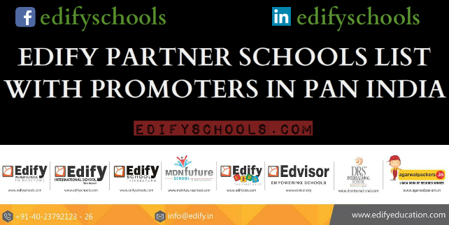 EDIFY PARTNER SCHOOLS LIST WITH PROMOTERS IN PANINDIA