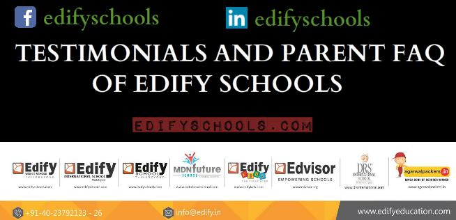 TESTIMONIALS AND PARENT FAQ OF EDIFYSCHOOLS