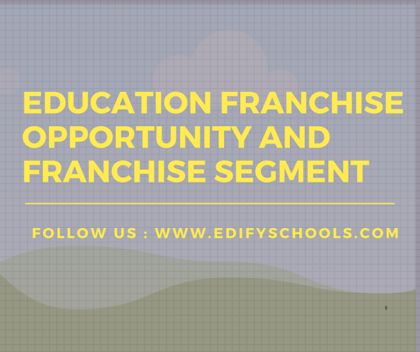 Education Franchise Opportunity,  education franchise segment – EDIFY