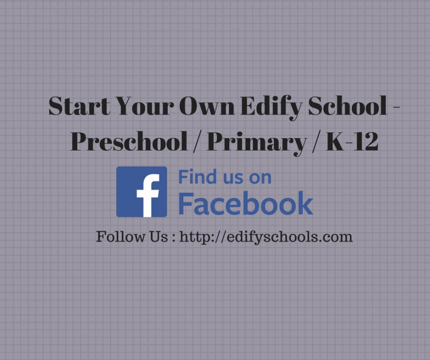 Start Your Own Edify School – Preschool / Primary /K-12